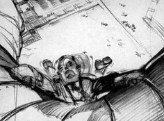 Storyboard sequence from ''Saboteur''.