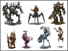 Sci Fi Characters thumbnails by ARTOFJUSTAMAN