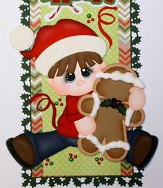 ELITE4U PMBY JULIE Christmas boy border for scrapbook pages album paper piecing