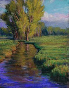 "Paintings By Joe Mancuso: ""Summer Creek"" 11x14 pastel"