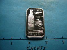COCA COLA COKE MERIDIAN MISS 1977 75th ANNIVERSARY 999 SILVER VERY RARE SHARP Silver Investing, Silver Bullion, Coke, Coca Cola, Anniversary, Ebay, Cola