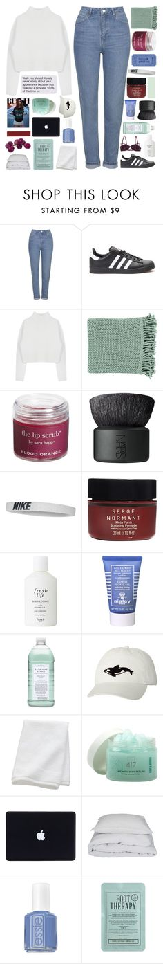 """""""you're just like the rest of us."""" by samiikins ❤ liked on Polyvore featuring Topshop, adidas, Dion Lee, Surya, Sara Happ, NARS Cosmetics, NIKE, Serge Normant, Fresh and Sisley Paris"""