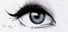 Afbeeldingsresultaat voor tekening oog