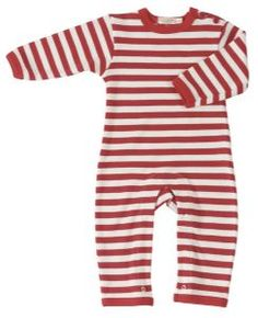 Striped Red and White Playsuit | Unisex Baby Clothes