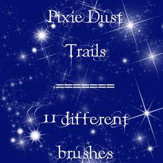Pixie Dust Trails brushes by rL-Brushes on DeviantArt