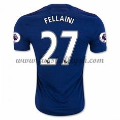 Premier League Fussball Trikots Manchester United 2016-17 Fellaini 27 Auswärtstrikot Kurzarm
