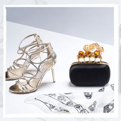 A little English edge? These British-born pieces are filled with it. #AlexanderMcQueen #JimmyChoo
