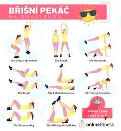 Jedeš na dovolenou? Vyzkoušej naše tréninkové karty, které tě udrží ve formě! | Blog | Online Fitness Yoga Fitness, Fitness Tips, Fitness Motivation, Health Fitness, Do Exercise, Excercise, Thigh Exercises, Belly Fat Workout, Yoga Tips