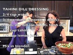 The Chef and The Dietitian Episode 57 - Tahini Dill Dressing