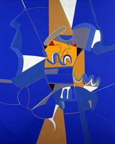 Françoise Gilot's 'Blue Sky' - great inter-play of colour.  Love the congestion.
