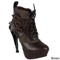 Shop Steampunk Boots for Sale  Women and Men - Hades Women's 'Oxford' Steampunk Ankle Bootie $206.99 #steampunk