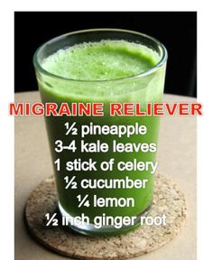 Relieve Migraine the natural way. Improper diet and lifestyle causes aggravation of Pitta (Ayurvedic term representing acid) in the body. In an aggravated state, Pitta impairs digestion, leading to production of digestive impurities (known as ama). This ama gets stored in the manovahi strotas (mind channels), thereby becoming the cause for pains in migraine. This smoothie works on Pitta and Ama.
