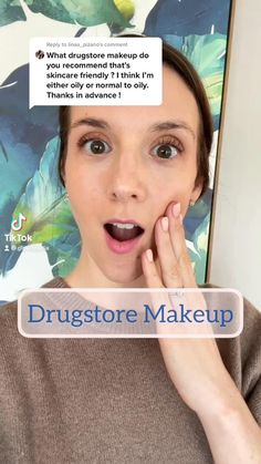 Follow me on TikTok + IG for more skincare and beauty! Makeup Swatches, Makeup Dupes, Eye Makeup, Drugstore Foundation, Drugstore Beauty, Workouts For Teens, Beauty Stuff, The Ordinary, Makeup Looks
