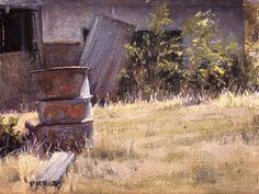 """Annie's Farm - Oil on canvas 9"""" x 12"""""""