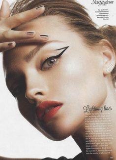 "Hair Stylist: Heath… ""Get in Line""; Model: Vita - Das schönste Make-up Makeup Trends, Makeup Inspo, Makeup Art, Makeup Inspiration, Hair Makeup, Makeup Tips, Eyeliner Makeup, Beauty Fotos, Beauty Make-up"