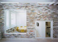 stacked magazine wall