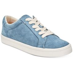 Frye Women's Kerry Lace-Up Sneakers, a Style ($104) ❤ liked on Polyvore featuring shoes, sneakers, aqua, suede leather shoes, platform shoes, frye, lacing sneakers and suede sneakers