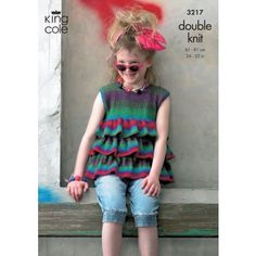 Top and Cardigan in King Cole Riot DK - 3217 - All Patterns - Patterns