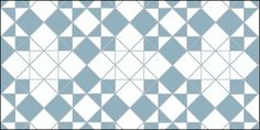 Star & Cross Design in Blue and White