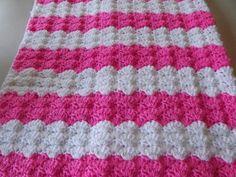 Pink Shells Baby Blanket