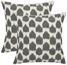 The classic polka dot pattern is updated with a worldly look in the Spotted Ikat Pillow. Inspired by patterns pulled from exotic outdoor markets, the pillow will lend a well-traveled flair to your home d?cor.