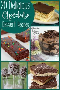 20 delicious dessert recipes with chocolate as a main ingredient!