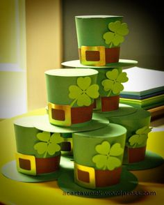Silhouette Cameo: St. Patrick's Day 3Dhats