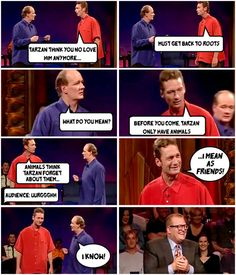 whose line is it anyway?, television, comedy, improv, colin mochrie, ryan stiles, drew carey