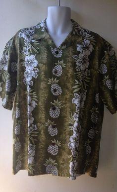 Hilo Hattie Hawaiian Shirt Size XL #HiloHattie #Hawaiian
