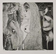Pablo Picasso 'Etching: (12 March 1970 II) 31 March 1970, 2 April 1970 (L.21)', 1970 © Succession Picasso/DACS 2015