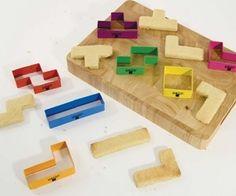 Tetris Cookie Cutters #cookie #tetris #baking