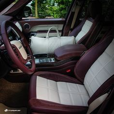 We chose #British leather for a British car and put #Bentley white linen #Nappa…