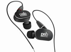 PSB 4 (Black Diamond)Hear PSB's refined sound, everywhere you go. The PSB 4 in-ear headphones use dynamic and balanced armature drivers for true-to-life sound that's tuned to sound like PSB speakers. Audiophile Headphones, Wireless Headphones, In Ear Headphones, Headphone Holder, Headphone With Mic, In Ear Monitors, Headphones With Microphone, Black Diamond, High Definition