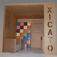Model Cardboard Exhibition Stand