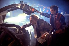 Christopher Lloyd & Michael J Fox in #BackToTheFuture (1985)