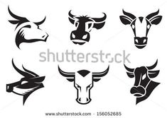 collection of six cows heads Poster Harley Davidson Stickers, Cow Icon, Cow Illustration, Illustrations, Cow Logo, Stained Glass Night Lights, Bull Logo, Cow Head, Laser Art