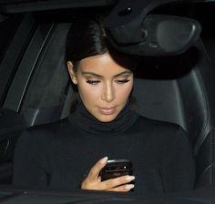 Kim Kardashian leaving the Balenciaga SS 2015 Fashion Show in Paris