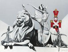 «Εύθραυστοι και άφθαρτοι» 100 x 130 Λαδομπογιά και λάδι σε καμβά Sigma Tau, Theta, Kappa, Artist, Artists