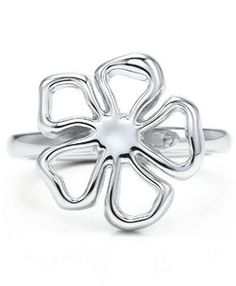 Tiffany & Co Silver Flower Ring