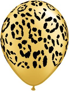 Gold leopard balloon!