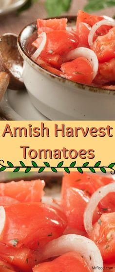 This easy Amish recipe is a farm favorite, made from ruby red tomatoes bathed in a tangy homemade marinade. Take advantage of your homegrown tomatoes, or the ruby red beauties at the Amish market, and team this healthy salad with any of your favorite main dishes. These Amish Harvest Tomatoes are sure to be a family-style hit.