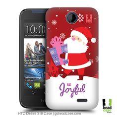 Head Case Designs Santa Christmas Tidings Back Case for HTC Desire 310 Santa Christmas, Create Your Own, Smartphone, Cover, Design, Slipcovers, Design Comics