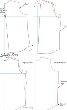 Dart less full bust adjustment - how and when to do bust adjustments when sewing for women - Melly Sews