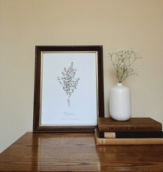 Free Botanical Art Prints for Your Walls  Like real plant next to print.