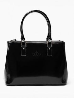 VEZZE TOREBKA SKÓRZANA CZARNA Oryginalna torba damska włoskiej produkcji (Vera Pelle) wykonana ze skóry naturalnej najwyższej jakości. Skóra gładka, gruba i sztywna połyskiem. Torba nie odkształca się i nie zagina, dzięki czemu przez cały czas ma niezmien Kate Spade, Bags, Handbags, Bag, Totes, Hand Bags