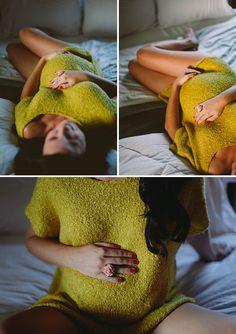 Intimate maternity shoot