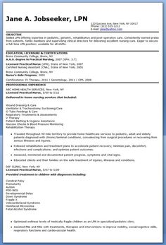 New Grad Nursing Resume Nursing Pinterest