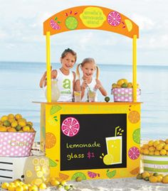 wooden lemonade stand - Chasing Fireflies selling for extra money in your neighborhood