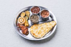 Miniature Assorted Indian Curry with Naan, Chicken and Vegetables