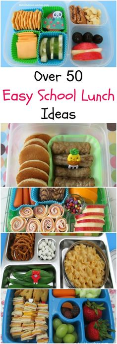 Easy and Fun School Lunch Ideas from Pinwheels, Roll-Ups, DIY Lunchables, Leftovers, Kebabs. by pathkelly